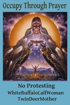 Occupy Through Prayer No Protesting WhiteBuffaloCalfWoman TwinDeerMother. Woman Singing, Buffalo, Calves, Deer, Twins, Prayers, Movie Posters, Posts, Dance