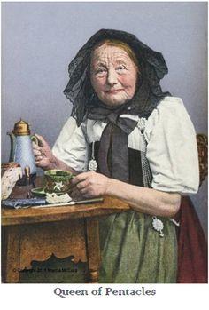 tea tarot - Queen of Pentacles
