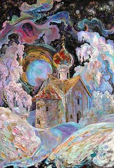 Russian art do you see any fairies.......