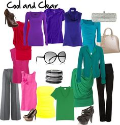 """""""cool and clear winter Cool Winter Color Palette, Deep Winter Colors, Inside Out Style, Winter Typ, Clear Winter, Seasonal Color Analysis, Fashion Capsule, Colourful Outfits, Bright Winter Outfits"""