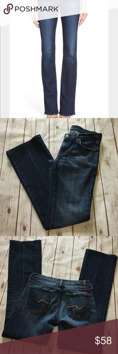"""7 For All Mankind - Stunning Bootcut Denim Jeans 7 For All Mankind - Stunning Bootcut Denim Jeans, women's size 29, 32"""" inseam. In amazing preowned condition, only issue to mention is very minor wearing at bottoms. Please be sure to check out all of my other boutique items to bundle and save. Same day or next business day shipping is guaranteed. Reasonable offers will be considered! 7 For All Mankind Jeans Boot Cut"""