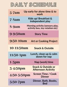 Daily Toddler Schedule To Try During Quarantine The Mama Notes - Preschool activities - Daily Schedule Kids, Daily Routine Chart, Daily Routine Activities, Baby Schedule, Toddler Schedule, Toddler Learning Activities, Infant Activities, Toddler Daily Routines, Schedule For Toddlers