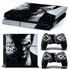 PS4 Playstation 4 Console Skin Decal Sticker The Joker + 2 Controller Skins Set #ZoomHit