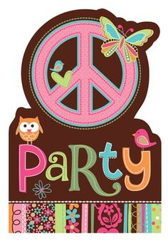 Hippie Chick Birthday Invites|Fast Shipping|8 per package