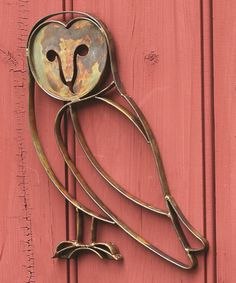 Loving this Flamed Barn Owl Outdoor Wall Hanging on #zulily! #zulilyfinds