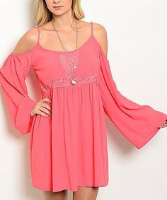 Another great find on #zulily! Coral Shoulder-Cutout Dress #zulilyfinds