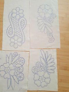 Crochet Flower Tutorial, Crochet Flowers, Cutwork Embroidery, Embroidery Patterns, Crochet Cushions, Point Lace, Exotic Birds, Filet Crochet, Art Drawings