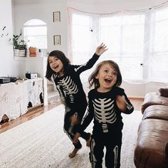 """We've been singing """"dem bones dem bones dem dry bones"""" over and over and they've been running around like a bunch of crazies and making a bunch of boomerangs and we can't stop cracking up! 😂💀👻 #jackscrazyeyesarecreepingmeoutthough"""