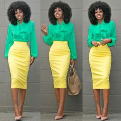 Style Pantry- green and yellow