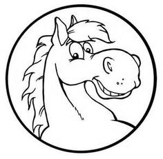 horse face coloring pages Horse Drawings, Animal Drawings, Art Drawings, Horse Coloring Pages, Cute Coloring Pages, Coloring Sheets, Happy Cartoon, Cartoon Pics, Horse Clip Art