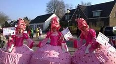 Carnavalskleding loopgroep 3 personen 'de suikertantes'