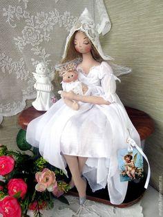 Купить Фея - Крестная - белый, Крестины, крестильное, подарок крестнице, подарок крестнику, ангел -хранитель