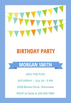 Anchor  Printable Birthday Invitation Template  Owen Rd