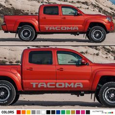 Side Door Decal Graphic Sticker Kit For Toyota Tacoma Off Road Mirror Seat Cover Toyota Tacoma 2004, Toyota Tacoma Off Road, Lifted Tacoma, Tacoma Grill, Vinyl Siding, Car Insurance, Decals, Sticker Vinyl, Car Decal