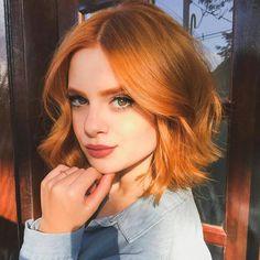 Short Haircut Styles, Short Bob Haircuts, Short Hairstyles, Haircut Bob, Cool Haircuts, Medium Hair Styles, Curly Hair Styles, Natural Hair Styles, Short Red Hair