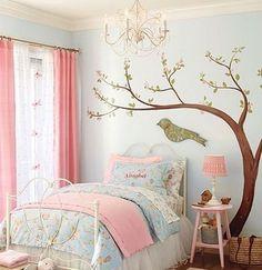 Murales infantiles de árboles. Decoración de la habitación infantil