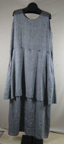 Angelheart Flax Sunworshipper Dress / Tunic - Granite Large