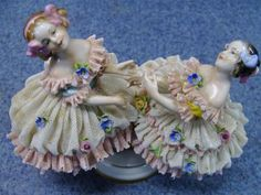 Superb Antique German Porcelain Volkstedt Lady Dancers Dresden Figurine Figures | eBay