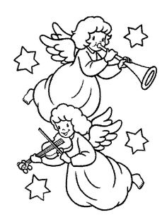 53 best ANGEL COLORING PAGES images on Pinterest | Appliques ...