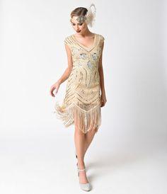 1920s Style Dusty Blue Hand Beaded Long Sleeve Karyn Flapper Dress ... 0ac648c70