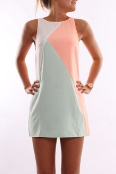 Crazy In Love Dress Peach Mint-Obsessed with this dress