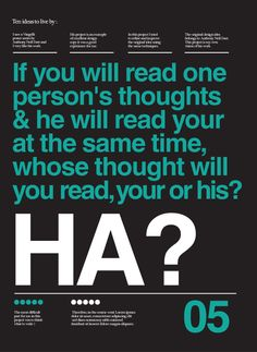 Ten posters about ten ideas by LIMB MINT, via Behance