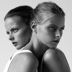 Max Huijgen - Google+ - Twin models Elza&Vera Luijendik Image courtesy of Tumblr #FashionPhotography