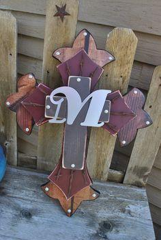 My 'M' Initial western wooden wall cross. love it!