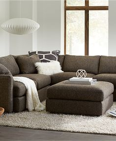 Clinton Fabric Sectional Collection - Furniture - Macy's