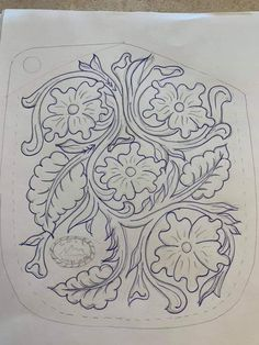 Leather Tooling Patterns, Leather Pattern, Leather Crafts, Leather Projects, Guitar Straps, Gun Art, Leather Working, Flower Patterns, Mosaic