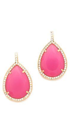 Juicy Couture Pave Teardrop Earrings | SHOPBOP