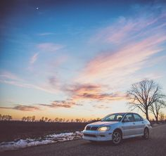 I couldn't find a car wash that worked today. But it was a beautiful day with a great #sunset and this girl turned over 200k miles today! So I had to get a few shots in.  See the whole review of the car and the odometer roll over on my snapchat story @tedisgraphic  #mitsubishi #lancer #ozrally #200kmiles #snapchatstory #tedisgraphic