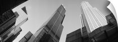 Wall Peel entitled Low angle view of buildings, Sears Tower, Chicago, Illinois, None