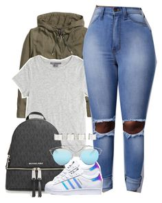 """I need some new music !! Comment songs"" by luhariiee ❤ liked on Polyvore featuring H&M, Vince, MICHAEL Michael Kors, adidas, Christian Dior, Maison Margiela and AriIdeas"