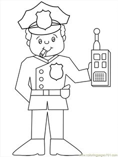 police officer printables | free printable coloring page Police22 (Peoples > Police)