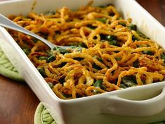Gluten Free Green Bean Casserole with Fried Onions.  I had this and it was FABULOUS!