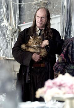 Harry Potter and the Goblet of Fire. Argus Filch and Mrs Norris