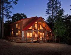 Constructed in Big Lost is secluded and located on a bluff with Fork Creek wrapping around it. Multi-tiered decks and hot tub gazebo overlook Fork Creek. Broken Bow Cabins, Broken Bow Lake, Beaver Bend, Log Cabin Rentals, Tiered Deck, Hot Tub Gazebo, Pine Walls, Rock Fireplaces, Luxury Cabin