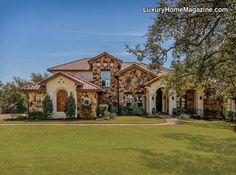 Tuscan style estate puts you in mind of Italian country side. Beautiful architecture and design, luscious landscaping, and luxurious elements makes this luxury home a one of a kind!
