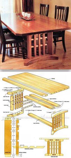 Trestle Table Plans - Furniture Plans and Projects| WoodArchivist.com