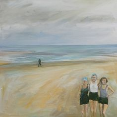 The Swimmers - acrylic Swimmers, Paintings, Art, Art Background, Paint, Painting Art, Kunst, Painting, Gcse Art