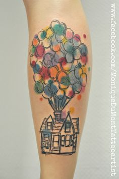 disney tattoo scribble tattoo up tattoo watercolor tattoo