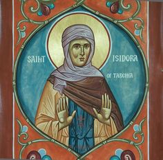 Isidora of Tabenna St G, Saints, Princess Zelda, Icons, Baseball Cards, Fictional Characters, Female, Medieval Art, Fresco