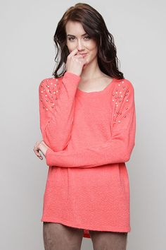 Danica Knit Top in Blush on Emma Stine Limited