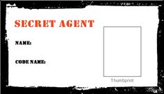 Set up agent check-in where they get their picture taken and thumbprint and then after they've gone through training, for party favor they get their secret agent ID Geheimagenten Party, Party Ideas, Party Time, Spy Names, Fingerprint Cards, Secret Agent Party, Spy Birthday Parties, Detective Party, Spy Kids