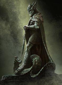 Skyrim. estatua de el dios talos...