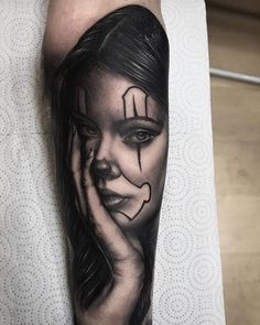 Black and grey payasa by artist @adry_sanchez_tattoo #inksav