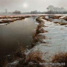 winter oil painting by Renato Muccillo