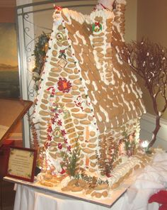 This looks like a gingerbread church!