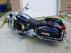 """road king with solo seat and fairing 